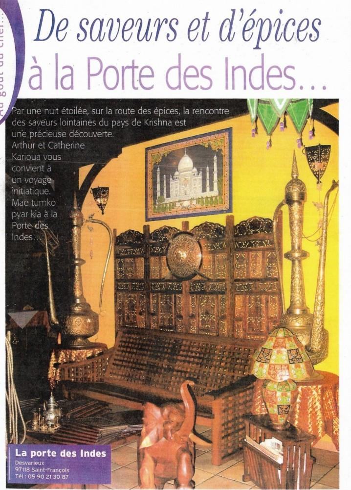 Presse for Porte des indes